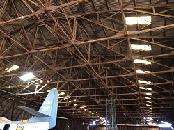 Wooden WWII Hangar at Tocumwal.